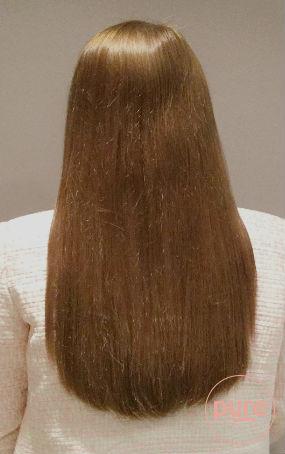 voor en na foto's hairextensions